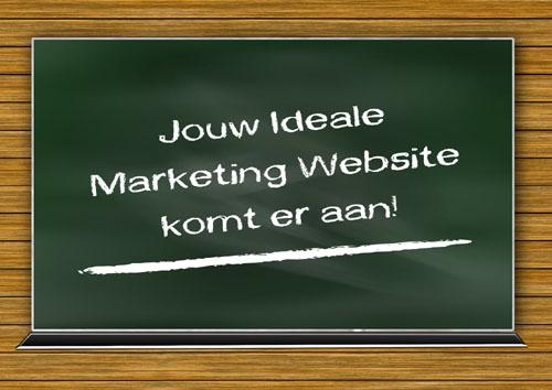 Jouw ideale marketing website komt er aan!
